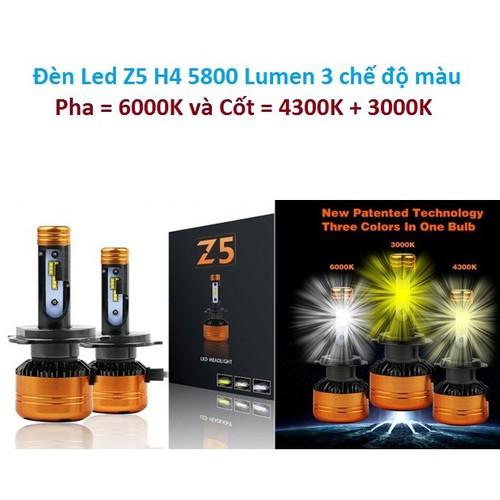 Bộ Đèn Led  Z5 H4 cao cấp 5800 Lumen 3 chế độ màu siêu sáng, 2 bóng - 5306427 , 8822328 , 15_8822328 , 980000 , Bo-Den-Led-Z5-H4-cao-cap-5800-Lumen-3-che-do-mau-sieu-sang-2-bong-15_8822328 , sendo.vn , Bộ Đèn Led  Z5 H4 cao cấp 5800 Lumen 3 chế độ màu siêu sáng, 2 bóng