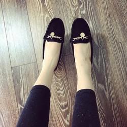 giày mọi nữ chất da lộn