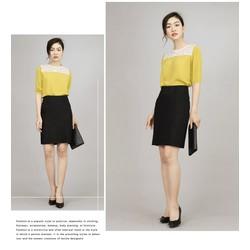 Set áo kiểu phối ren chân váy ôm - MS0059