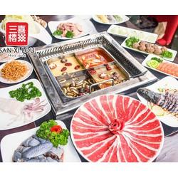 Voucher 160000đ được sử dụng 200000đ áp dụng toàn menu đồ ăn tại NH Sanxilou Hotpot Láng Hạ