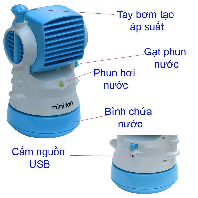 Quạt Phun Sương Mini Cầm Tay -9865011567 8