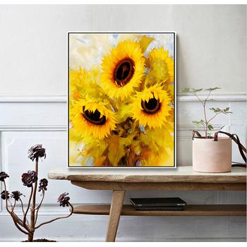 Kết quả hình ảnh cho tranh canvas hoa hướng dương