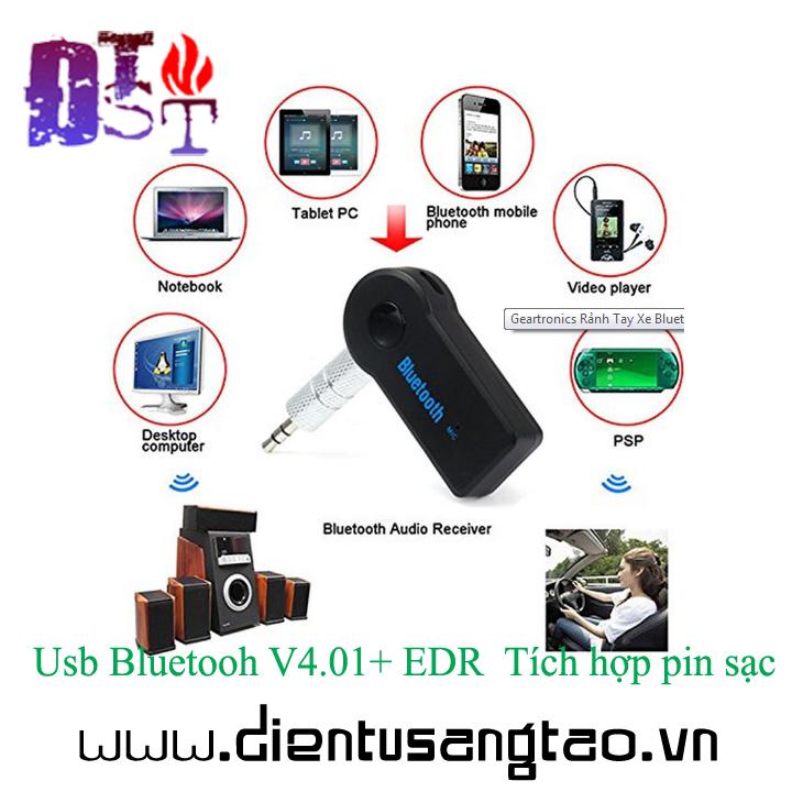 Usb Bluetooh V4.01+ EDR  Tích hợp pin sạc 3