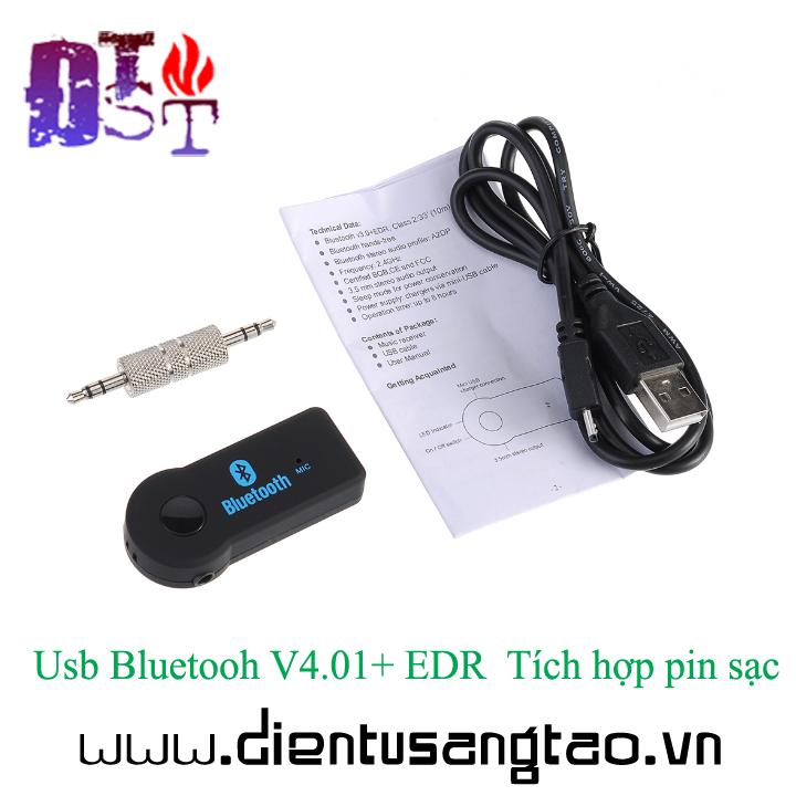 Usb Bluetooh V4.01+ EDR  Tích hợp pin sạc 2