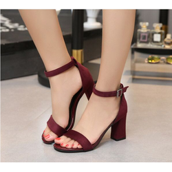 Giày Sandal  nữ đế vuông   - xăng đan nữ thời trang 2018 - SD50