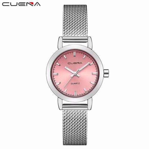 Đồng hồ nữ CUENA dây thép lụa sang trọng CN-6627
