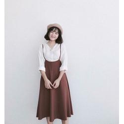 Set áo voan  yếm váy