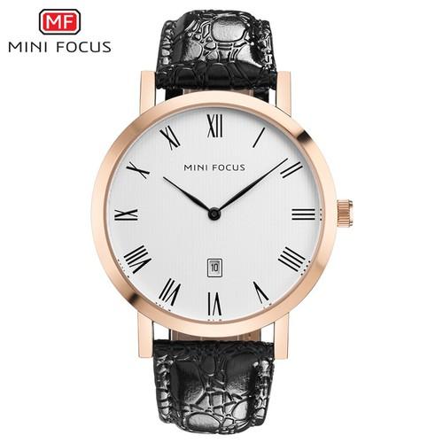 Đồng hồ nam MINI FOCUS dây da sần siêu mỏng MF108