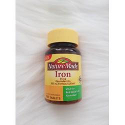 Viên uống bổ sung sắt Iron Nature Made
