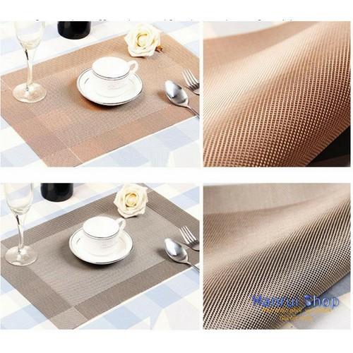Worldmart tấm lót bàn ăn polyester cao cấp phong cách châu âu 45x30cm bộ 4 cái
