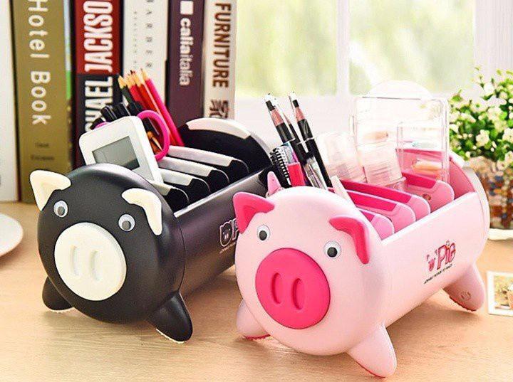 Hộp đựng bút hình lợn đa năng 2