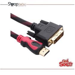 Cáp chuyển HDMI sang DVI 1.5m Đen phối đỏ