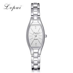 Đồng hồ nữ Lv-Pai dây thép TRẮNG cao cấp mặt oval đặc biệt