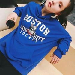 Áo hoodie Boston cá tính cho bạn gái năng động