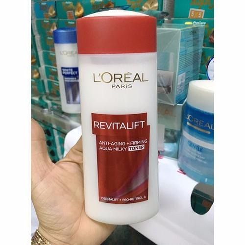 Nước hoa hồng chống lão hóa săn da Loreal Revitalift Aqua Milky