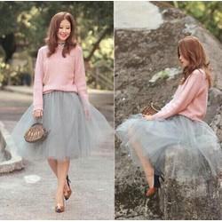 Chân váy lưới công chúa