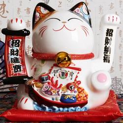 Mèo thần tài , mèo may mắn vẫy tay Maneki Neko MS35128 size 32 cm