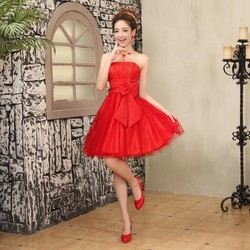 Váy phù dâu xinh xắn cho các bạn nữ Đỏ
