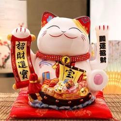 Mèo thần tài , mèo may mắn vẫy tay Maneki Neko MS35906 size 27 cm