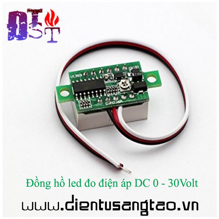 Đồng hồ led đo điện áp DC 0 - 30Volt 6
