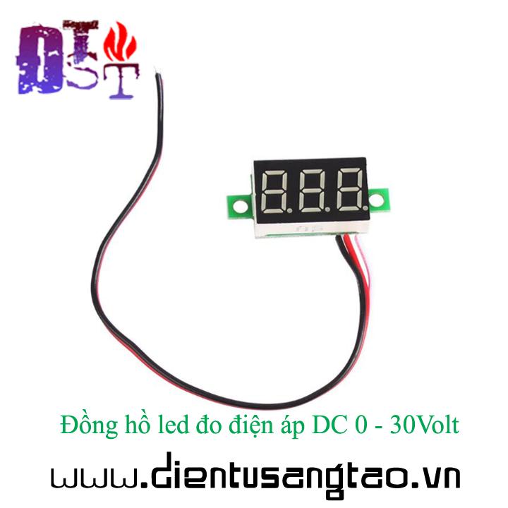 Đồng hồ led đo điện áp DC 0 - 30Volt 5