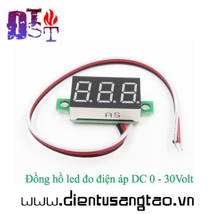 Đồng hồ led đo điện áp DC 0 - 30Volt 4