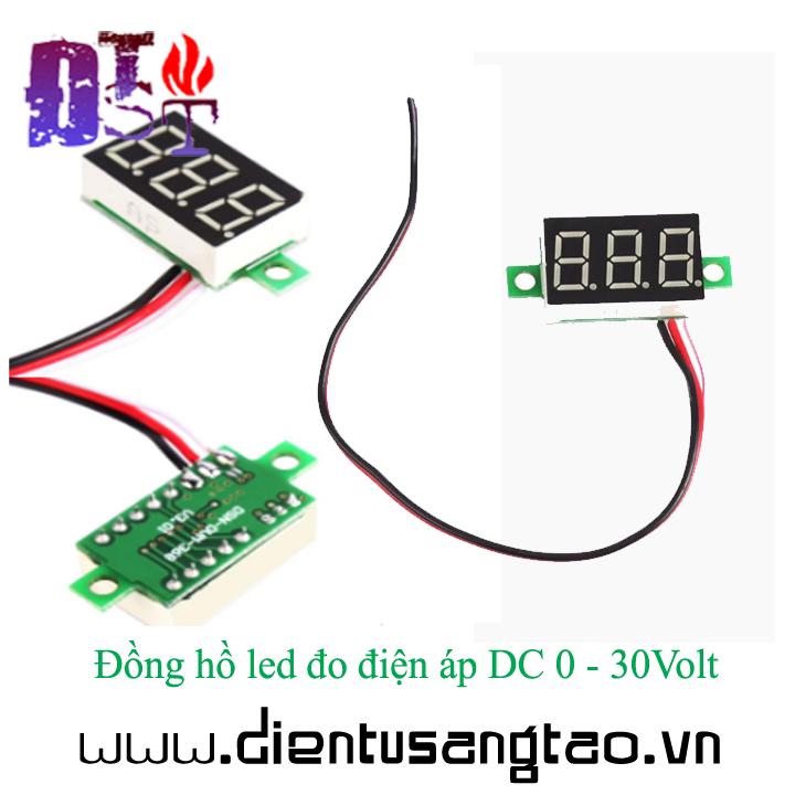 Đồng hồ led đo điện áp DC 0 - 30Volt 3