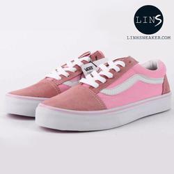 Giày Sneaker Old Skool Nữ màu Hồng Tặng Vớ Hàn