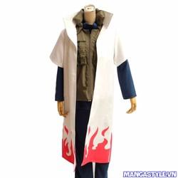 Áo Choàng Cosplay Namikaze Minato Hokage Đệ Tứ