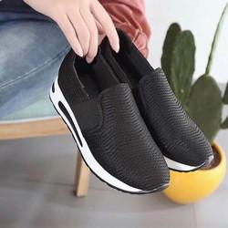 giày thể thao nữ độn 5p đế siêu nhẹ