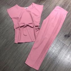 Set bộ hồng kèm belt cao cấp