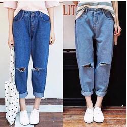 Quần Baggy jeans lưng tây