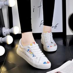 giày ba ta phối màu hàng qc chất da