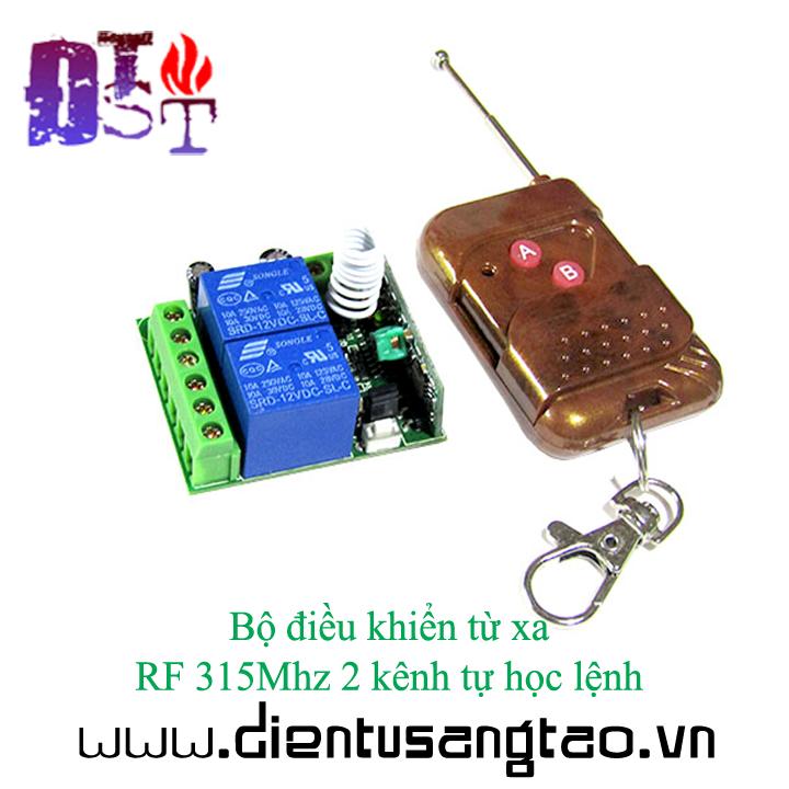 Bộ điều khiển từ xa  RF 315Mhz 2 kênh tự học lệnh 1