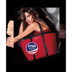 Túi vải tote Victoria màu đỏ, hàng nhập USA