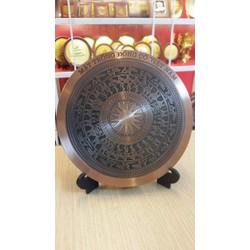 Đĩa đồng mặt trống đồng 18cm