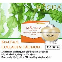 KEM face Collagen Tảo Non mocha mang lại làn da trắng sáng an toàn