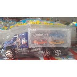 Xe tải chở 4 xe nhỏ