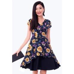 Đầm Hoa 2 Tà Vạt Xéo - S,M,L,XL - K105