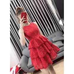 Đầm Dự Tiệc Ren Hoa Siêu Hot