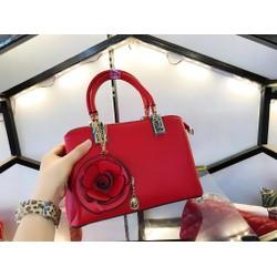 Túi xách công sở nữ tag hoa hồng hàng cao cấp