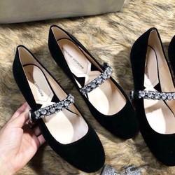 giày nhung đính đá cao cấp