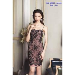 Đầm Body Ren Hai Dây Cúp Ngực Quyến Rũ