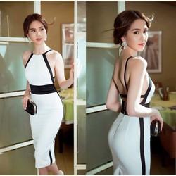 Đầm Ngọc Trinh ôm body thiết kế hở lưng tuyệt