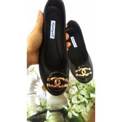 Giày búp bê nơ tròn sành điệu