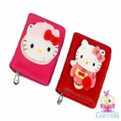 Bóp ngắn Kitty gương