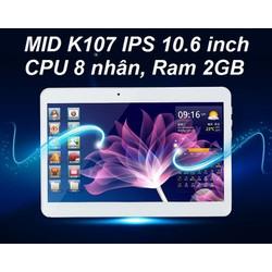 Máy tính bảng K107 Ram 2GB , gắn sim ĐT  3G , màn hình LCD 10.6 inch.