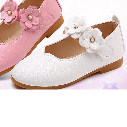 Giày búp bê hoa màu trắng cho bé gái