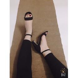 Sandal nữ | Sandal nữ da lộn đế vuông 7 phân