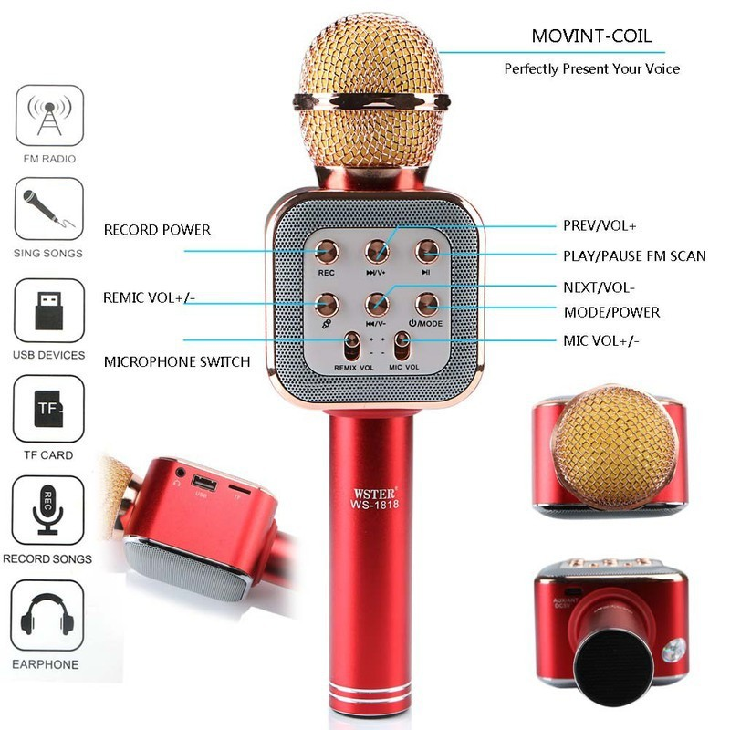 mic karaoke ws-1818 kèm loa 4